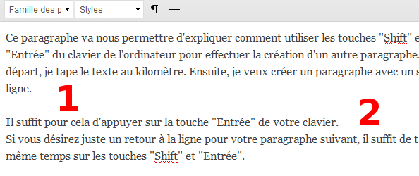 Touches clavier